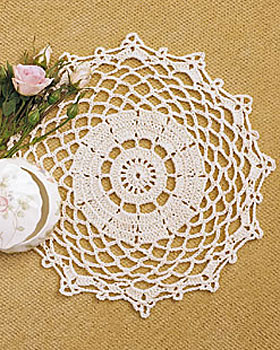 Grandmother's Pattern Book » free crochet flower doily pattern