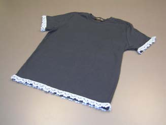 T-Shirt with Crochet Edge