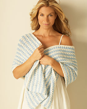 Crochet Striped Shawl