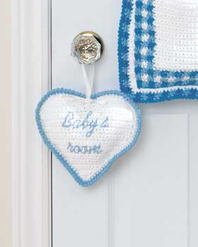 Crochet Baby Room Sign