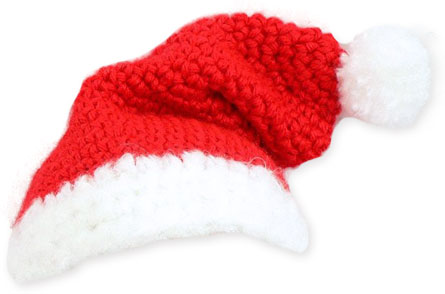 Knot By Gran'ma: Free Santa Hat Ornament Crochet Pattern