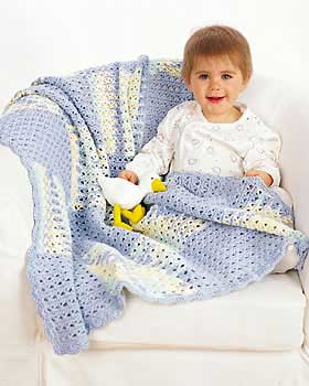 Crochet Blue Baby Blanket