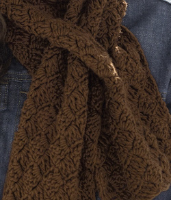 Crochet Check Scarf