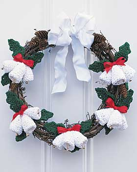 Crochet Christmas Bells Wreath