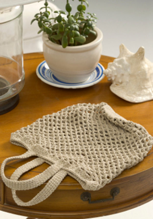 Think Green Bag Crochet Pattern From Red Heart