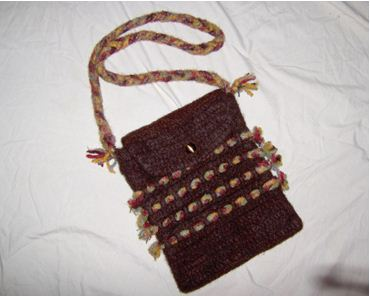 Felted Crochet Bag