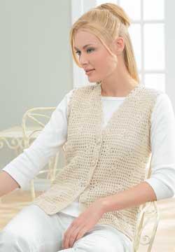 Floral Mesh Vest Crochet Pattern FaveCrafts.com