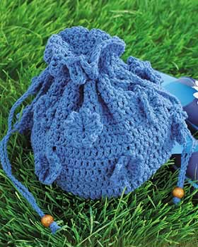 crochet flower sack