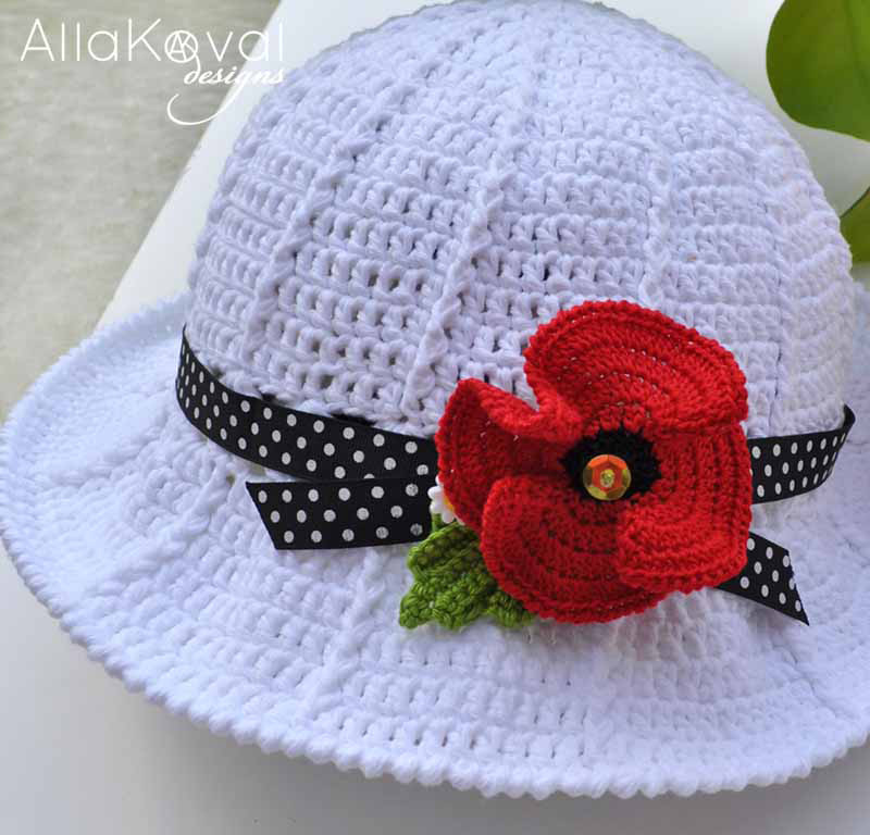 Crochet Garden Hat Close