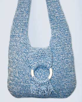 Crochet Bag Pattern Easy : ... shoulder strap and ring accent this free crochet purse pattern is easy