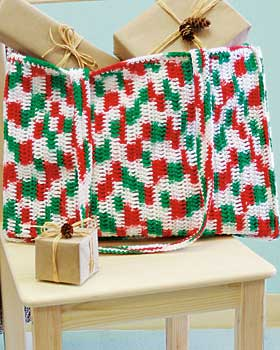 Crochet Holiday Tote