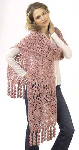 Crochet Motif Lace Wrap