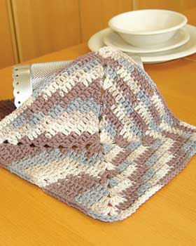Homemaker and the Pea: Easy crochet dishcloth pattern