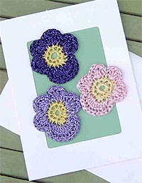 Crochet Pansies Card