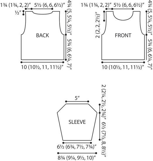 Pullover Sweater Crochet Diagram