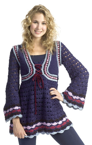 Short Sleeved Cardigan, Sweater & Tunic Crochet patterns
