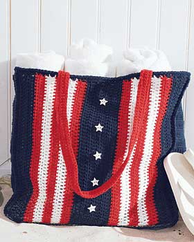 Crochet Stars and Stripes Bag