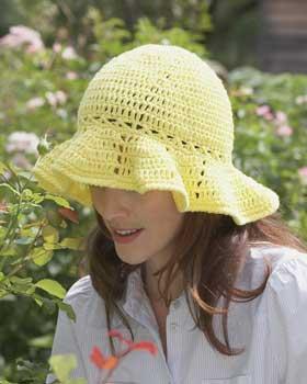 Easy Crochet Summer Hat Pattern Free : Crocheted Sun Hat Pattern FaveCrafts.com