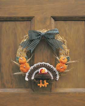 Crochet Thanksgiving Turkey Wreath