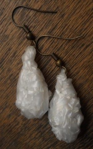 Crocheted Tear Drop Earrings