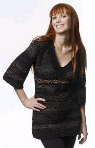 Empire Waist Crocheted Tunic