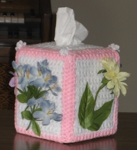Floral Tissue Box Cover
