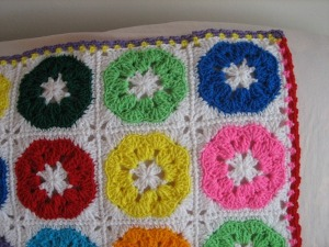 Crayon Colored Afghan
