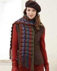One-Ball Crochet Loop Scarf Crochet Pattern | Red Heart