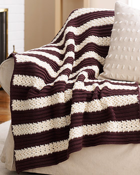 Panels Afghan Full Size or Lapghan MAM Mile A Minute Type Of Pattern