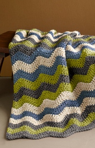 The Manly Ripple Afghan