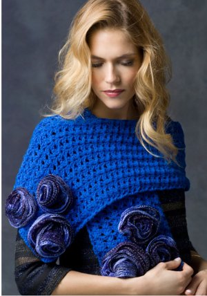 Misty Blue Rose Wrap