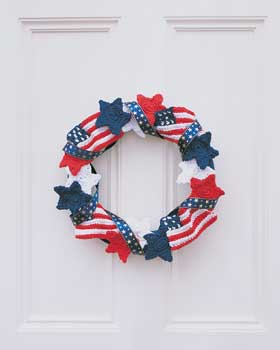Patriotic Crochet Wreath July 4th Decorations, Crafts and Games   Part 2