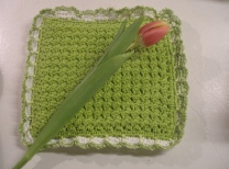 knit potholder