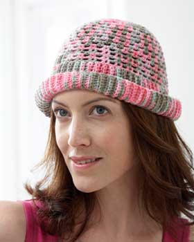 Crochet Mesh Roll Hat