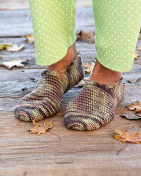 Over 100 Free Crocheted Slippers Patterns at AllCrafts.net