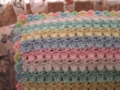 Granny Square Baby Afghan Crochet Patterns Lacy Rainbow Ruffles & more