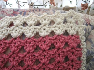 Crochet - Assorted - Raspberry Sorbet Afghan