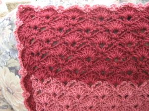 Rosy Red Throw