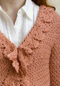 Ruffled Crochet Cardigan 4
