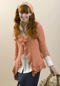 Ruffled Crochet Cardigan