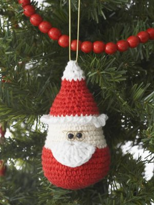 Crocheted Santa Ornament