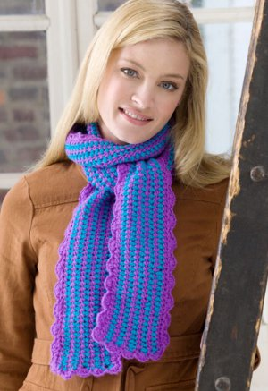 Scalloped Crocheted Scarf