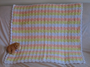 Shells and Dobule Crochets Baby Afghan