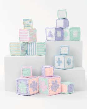 Soft Crochet Baby Blocks