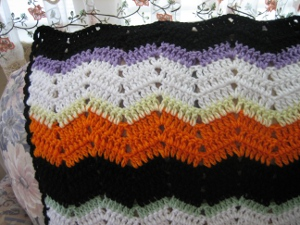 Striped Halloween Throw
