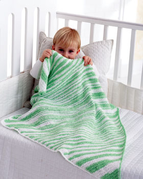 Baby Coordinates Sweet Stripes to knit an crochet: Bernat