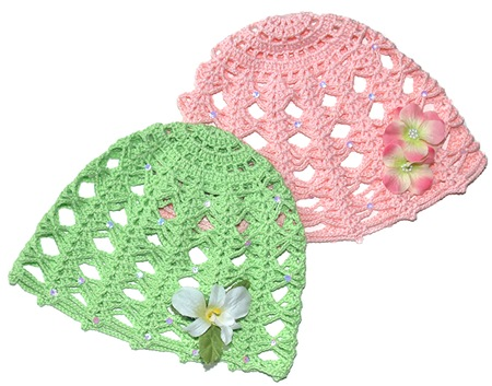 Crochet Cotton hat patterns