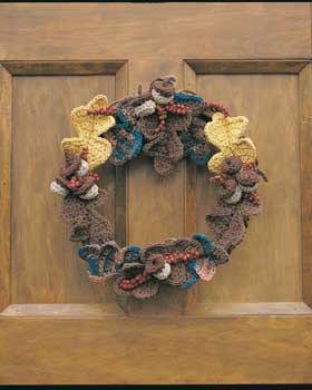 Autumn Leaves Crochet Wreath