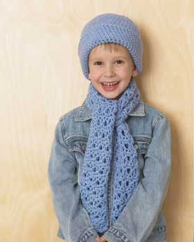 Little Blue Hat and Scarf Set FaveCrafts.com