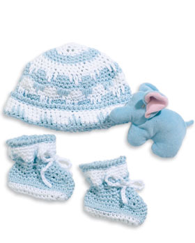 Free Crochet Pattern Baby Hat and Booties